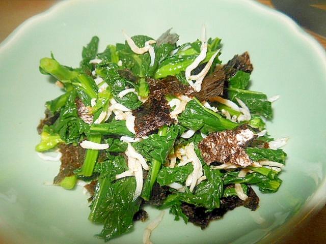 箸休め小鉢★かき菜としらす・海苔の和え物☆
