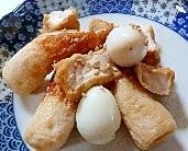 うずらの卵と厚あげとちくわの煮物
