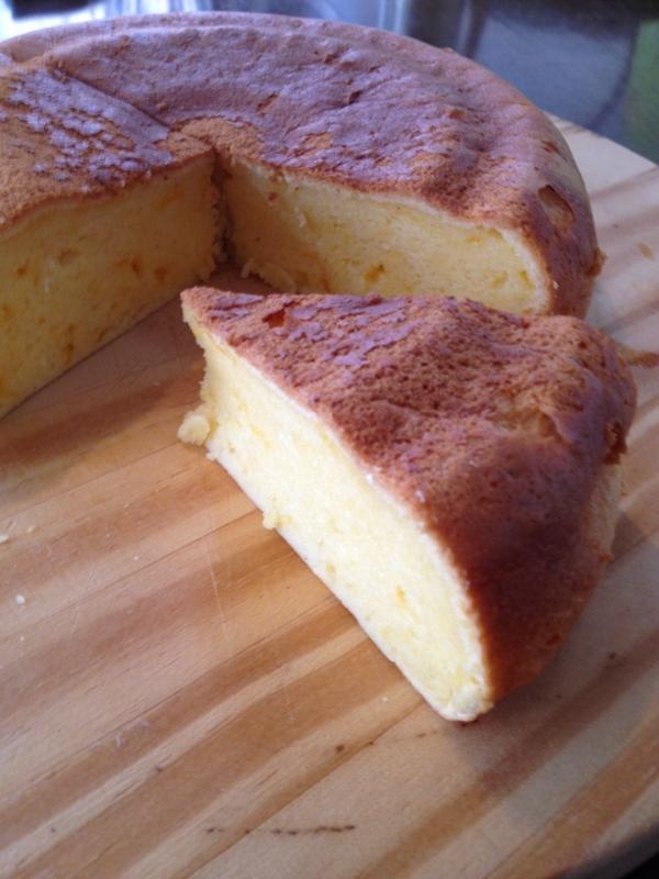 炊飯器チェダーチーズケーキ