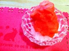 オトナのピンクグレープフルーツかき氷