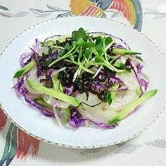 紫キャベツとセロリのサラダ~