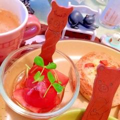桜咲くトマトの春サラダ