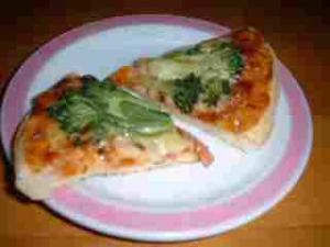 ブロッコリーのピザ