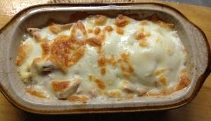 アスパラとささみのチーズ焼き