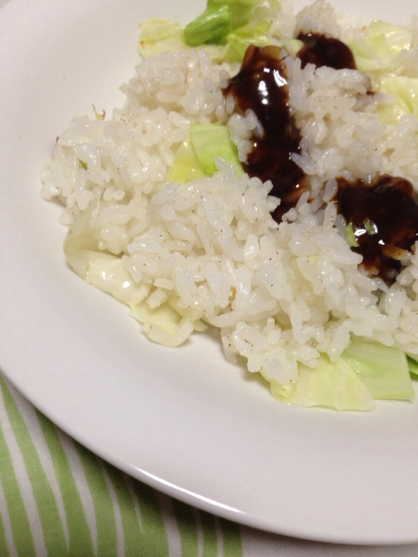 節約節約キャベツ焼き飯(*^^*)☆