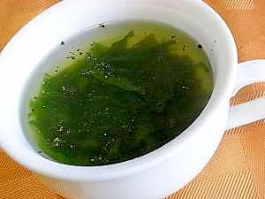 新芽わかめのスープ