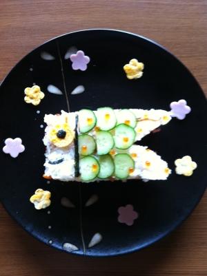 こどもの日に( -)こいのぼりちらし寿司