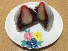しっとりモチモチ白玉粉で苺大福