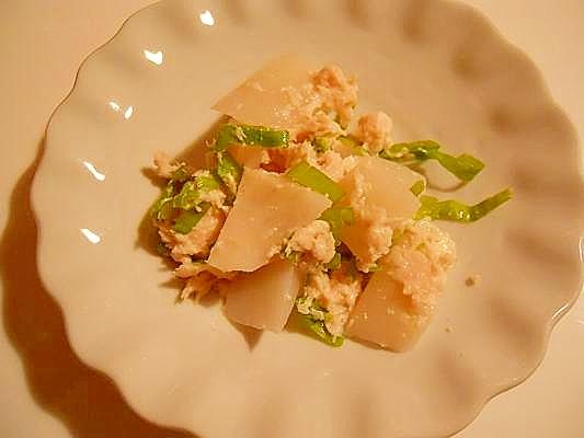 エコ★セコ 箸休めの小鉢に 蕪の皮で酒粕和え