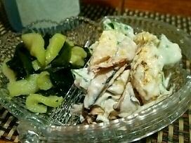 お手軽冷菜、おくらとヤングコーンの白和え