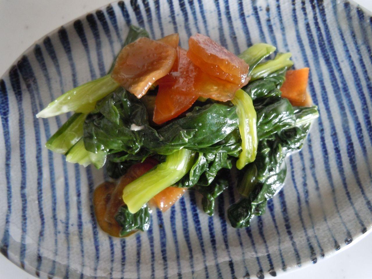 小松菜と福神漬け炒め