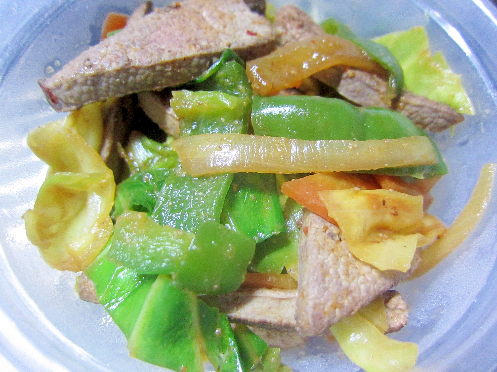 豚レバーと色々野菜炒め☆