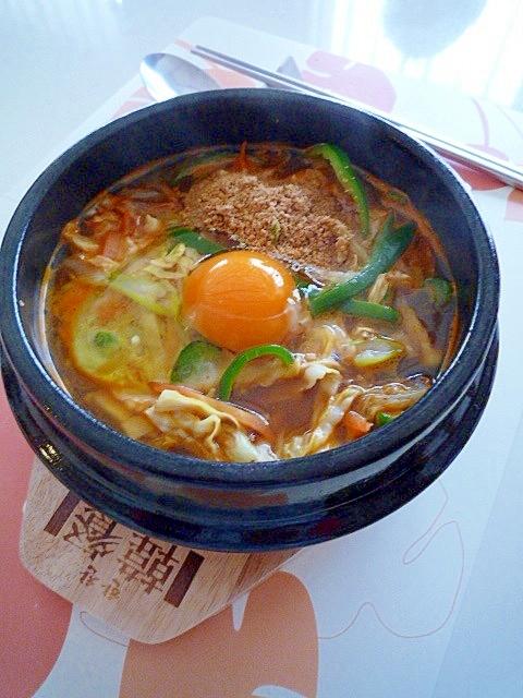 韓国風鍋焼きうどん♪