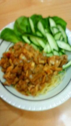 ジャージャー麺風 肉みそ中華麺