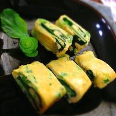 小松菜巻き巻き卵焼き