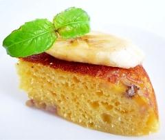 炊飯器でホットケーキミックスと豆乳とバナナのケーキ
