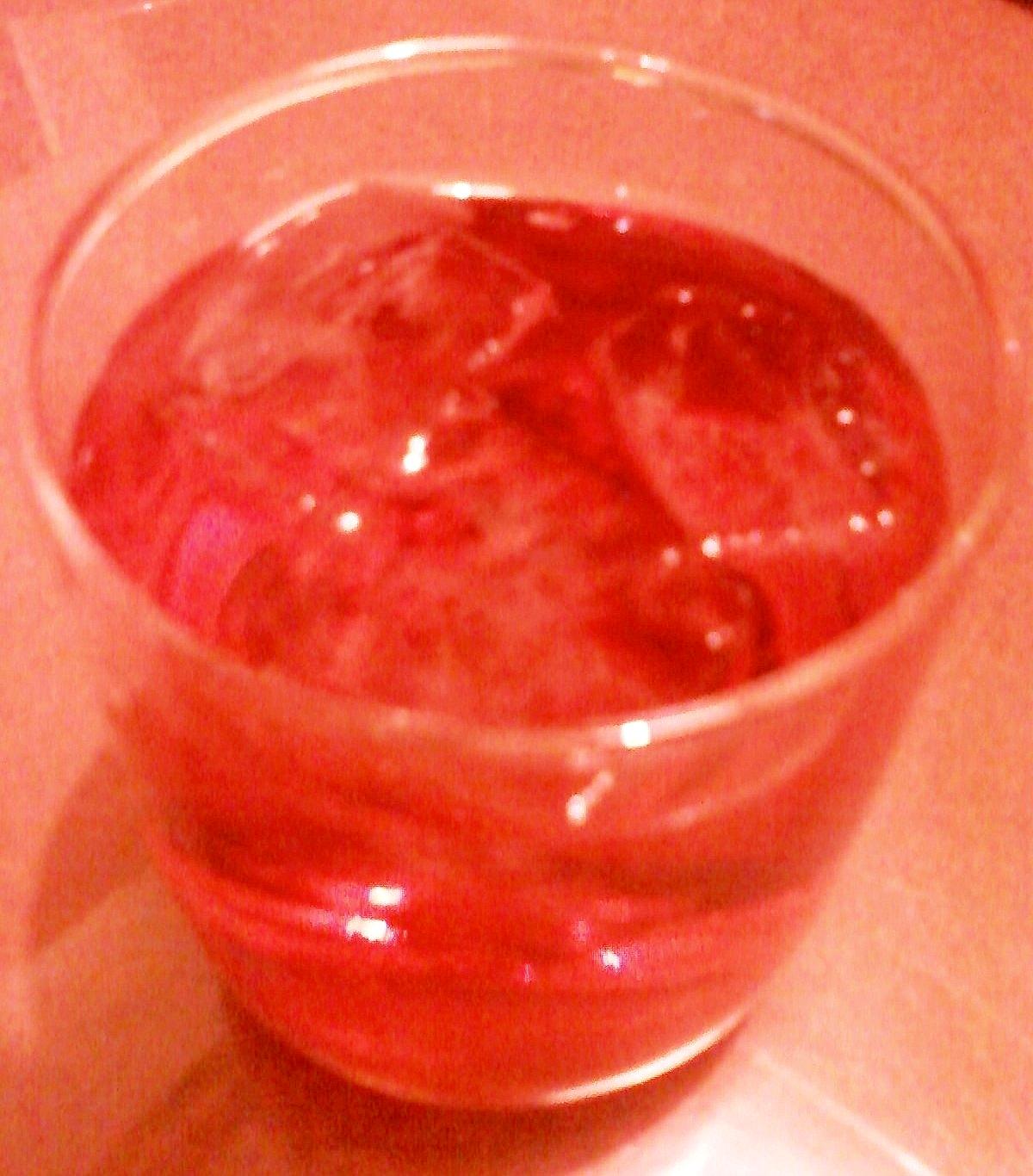 ☆酸っぱさが魅力的☆ザクロ酢梅酢割り焼酎☆*:・★
