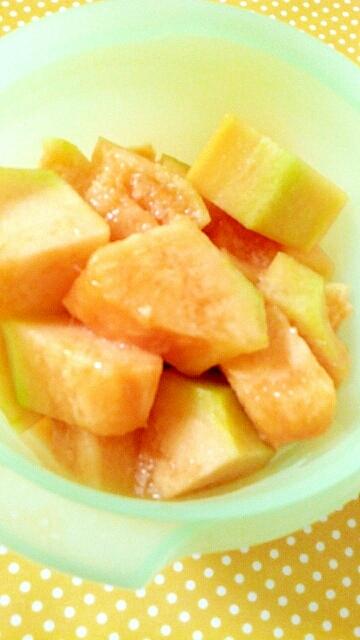 甘みが少ないメロンを美味しくはちみつメロン
