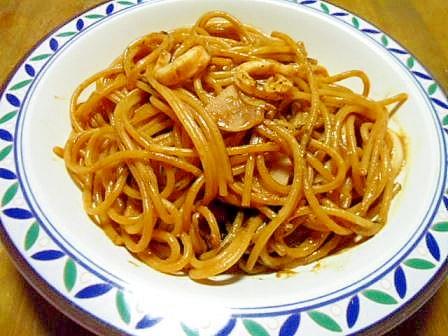 いかわた&いか墨の くコ:彡 いかスパゲティ