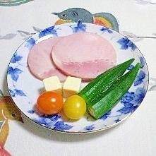 ロースハムの簡単サラダ~