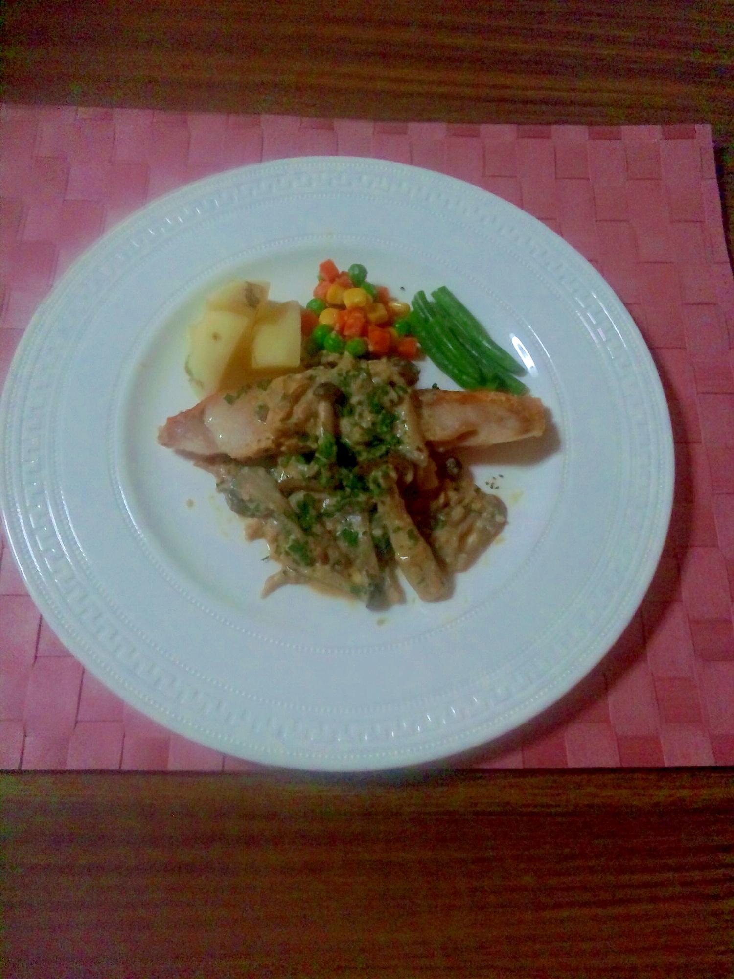 ヨウサマの『タニタ式』ダイエット食金目鯛のムニエル