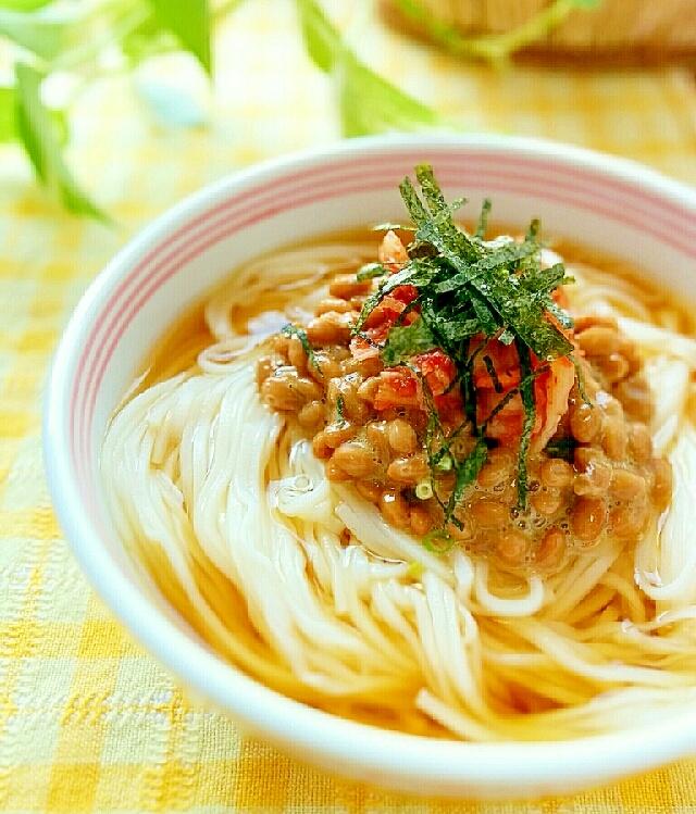 サッパリ食べたい♪納豆キムチのぶっかけ素麺 レシピ・作り方 by キャロット☆キャンディ|楽天レシピ