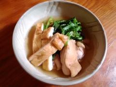 ★春菊(菊菜)と油揚げたっぷりの簡単鶏鍋★