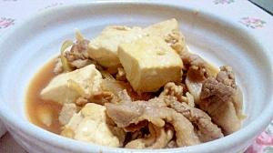 豚薄切り肉で☆肉豆腐