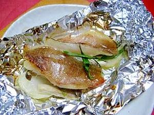 塩麹漬けカサゴのホイル焼き