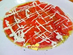 簡単イタリアン☆おもてなし☆サーモンのカルパッチョ
