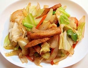 たっぷり野菜と★さつま揚げの★塩味炒め