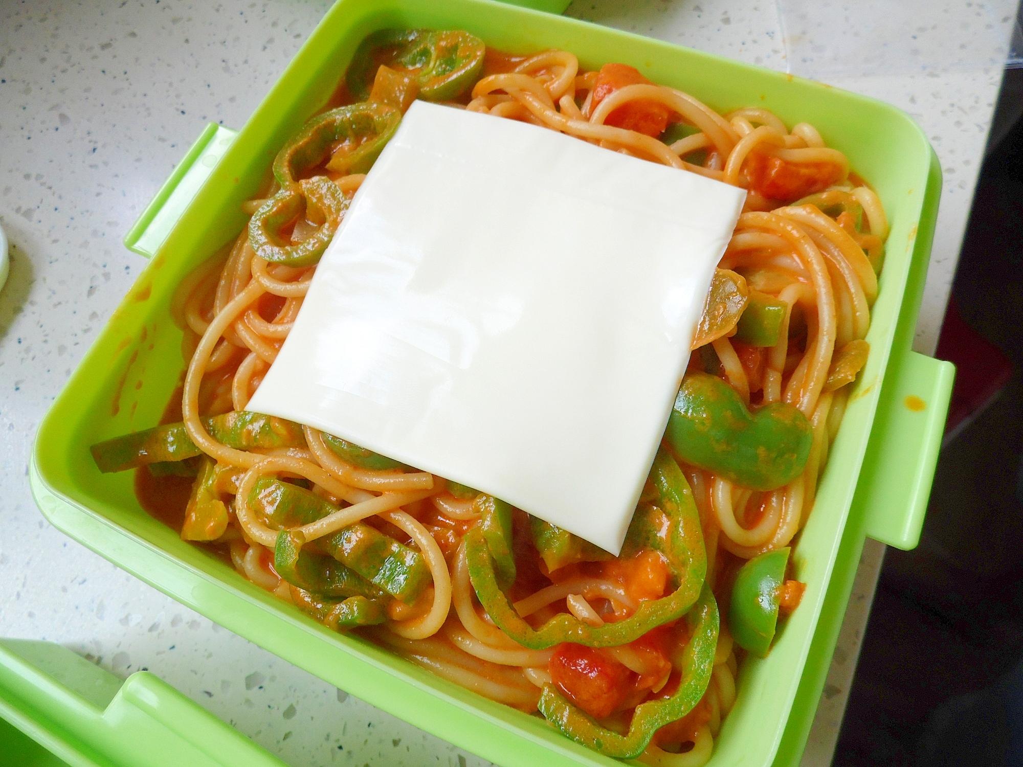 チーズのせナポリタン