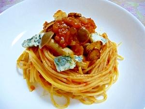 ブルーチーズのトマトパスタ