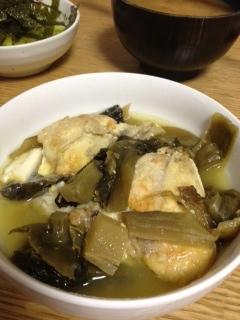 高菜で煮込むだけーかんぱちの高菜煮