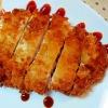 ボリュームのある一品✿鶏むね肉で❤卵なしカツレツ