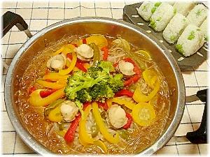 焼肉のたれで。簡単豚野菜鍋
