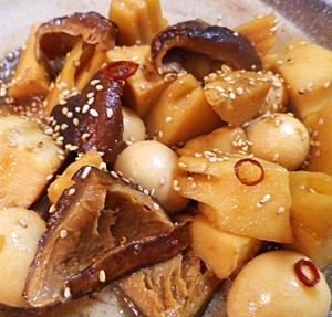 竹の子椎茸煮中華風