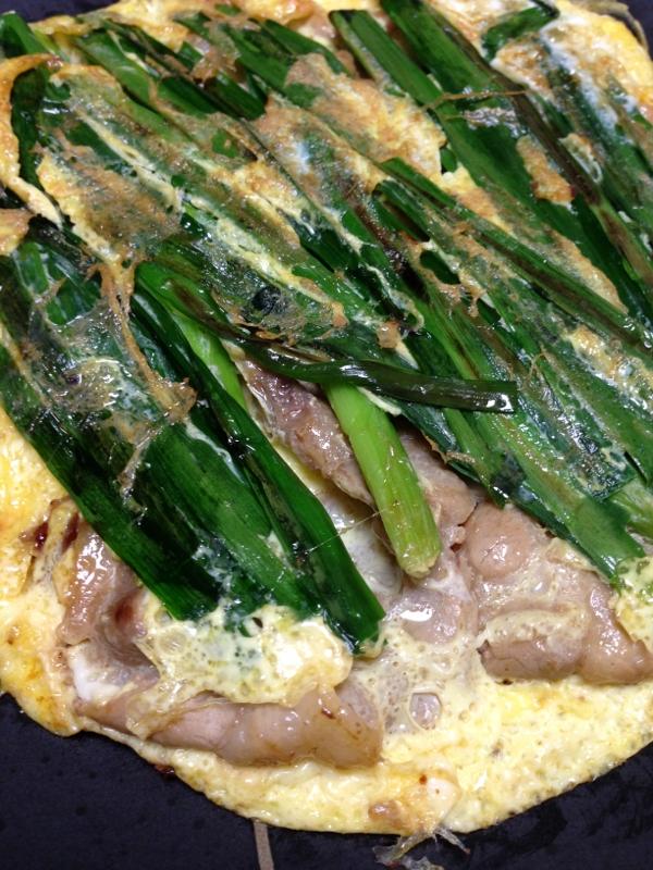夏バテ防止に!豚肉とニラのスタミナ卵焼き!