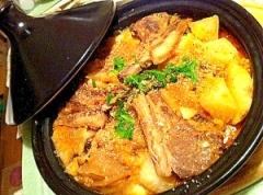 まるごと大根とラム肉の中華風タジン