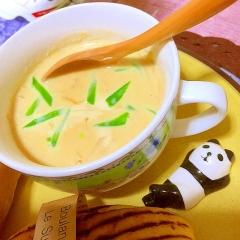穂先筍と絹さやえんどうで春味♪味噌チーズ豆乳スープ