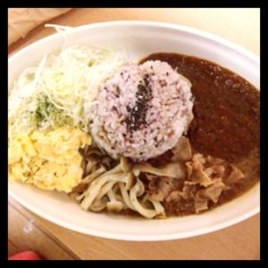 雑穀米のカレーライス