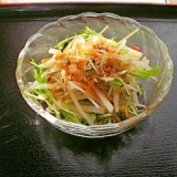 シャキシャキ三色サラダ(じゃこ梅ドレッシング)