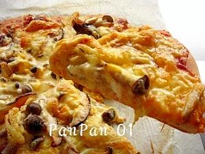 HB生地でキノコきつねピザ