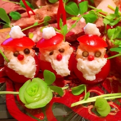 トマトと長芋de真っ赤なお鼻のサンタクロース