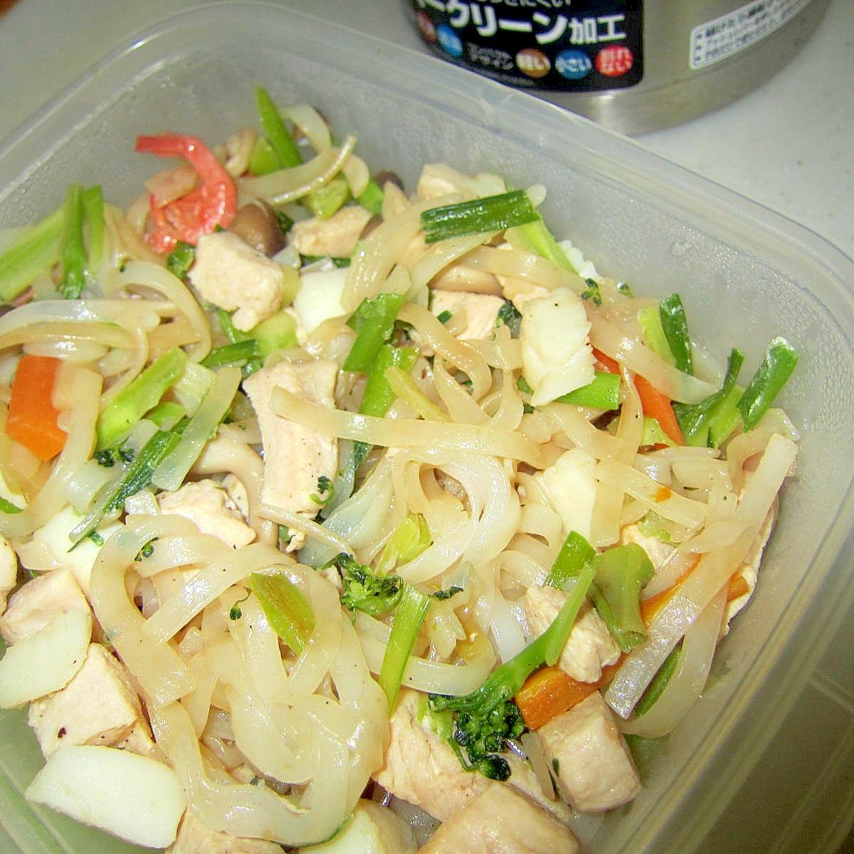 エビ烏賊米麺焼き