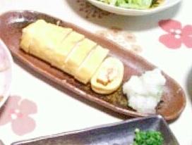 蟹缶で豪華★蟹チーズだし巻卵★