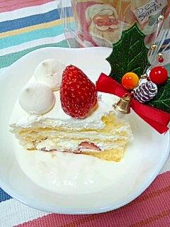 ダイエッターに☆クリスマスケーキonヨーグルト♪