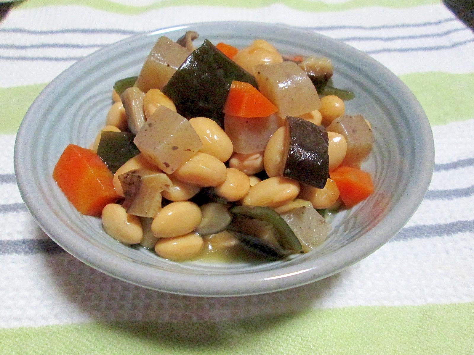 うま味タップリ♪茹で大豆からの五目豆