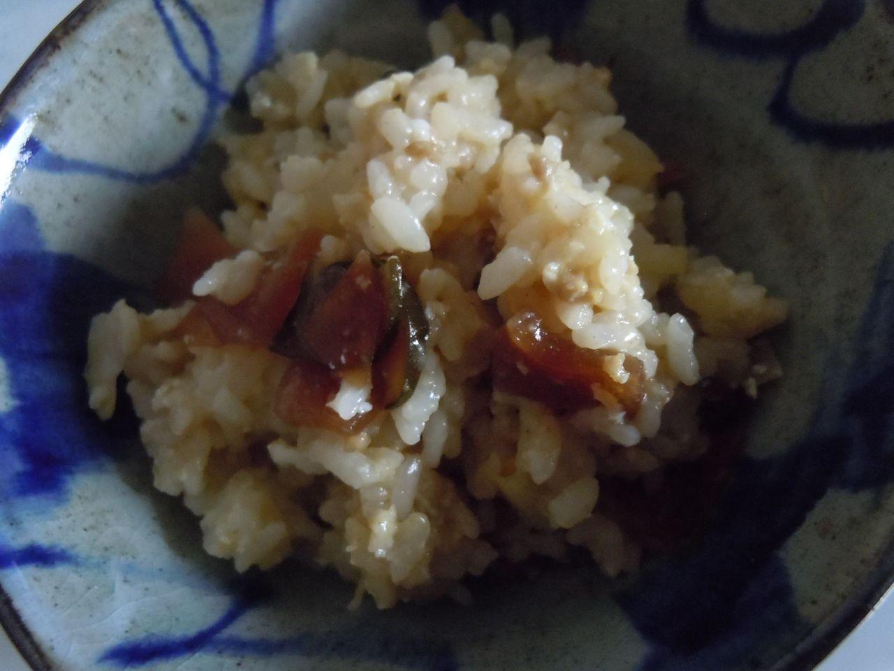 リメイク☆カレーと福神漬けの混ぜご飯