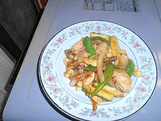 鶏ささみのカシューナッツ炒め